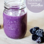 Blackberry Banana Smoothie