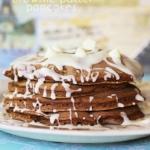 White Chocolate Chip Brownie Batter Pancakes
