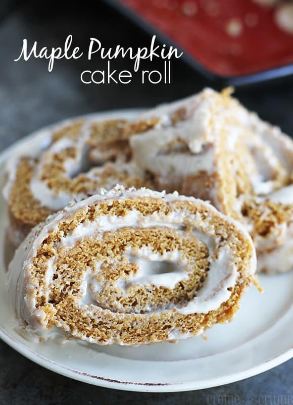 Maple pumpkin cake roll creme de la crumb