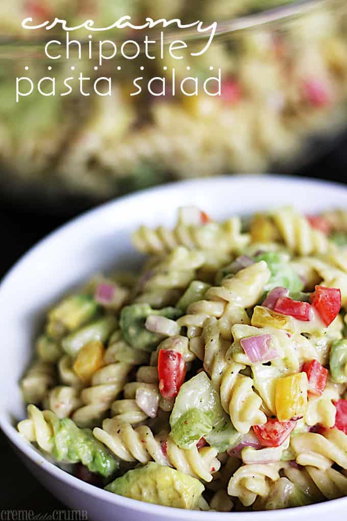 Creamy Chipotle Pasta Salad Creme De La Crumb
