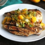 Grilled Mango Salsa Chicken