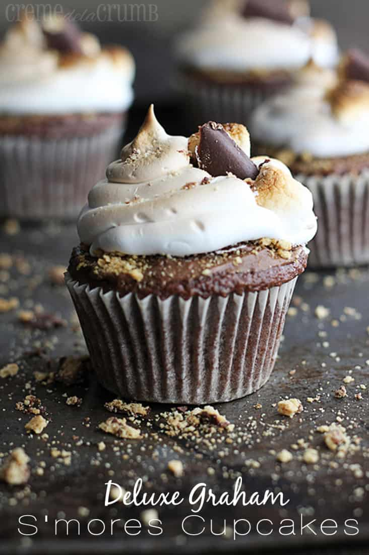 Deluxe Graham S'mores Cupcakes