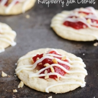 Almond & Raspberry Jam Cookies