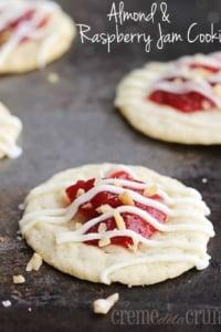 Almond & Raspberry Jam Cookies