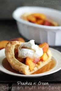 Peaches n' Cream German Puff Pancake