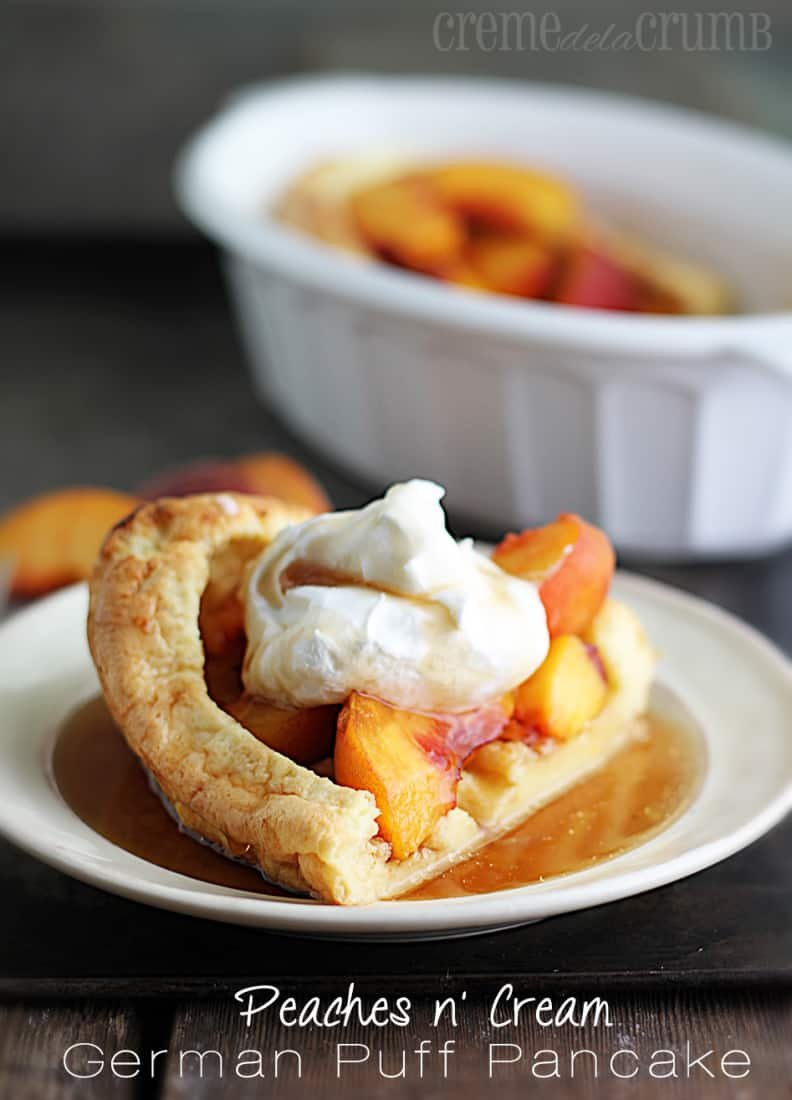 Peaches n' Cream German Puff Pancake