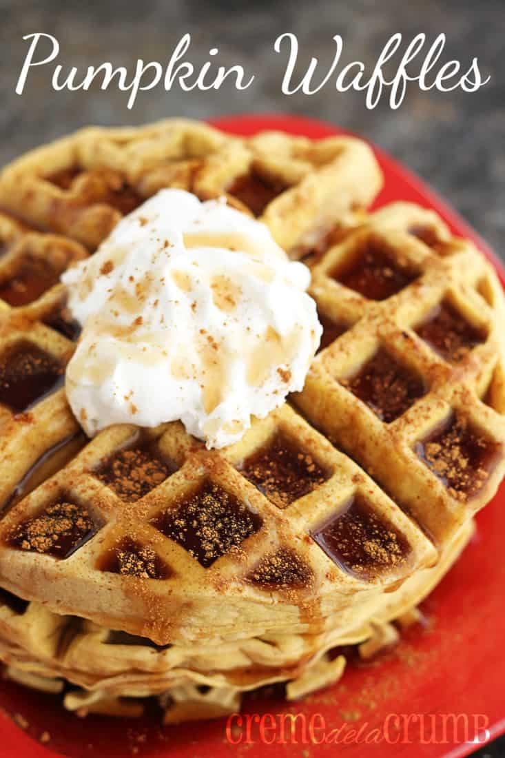 Pumpkin Waffles Recipe — Dishmaps