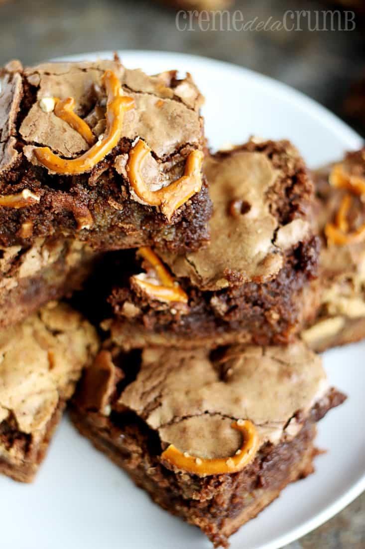Rolo Pretzel Brownies - Creme De La Crumb