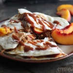 {Slow Cooker} BBQ Chicken & Nectarine Quesadillas