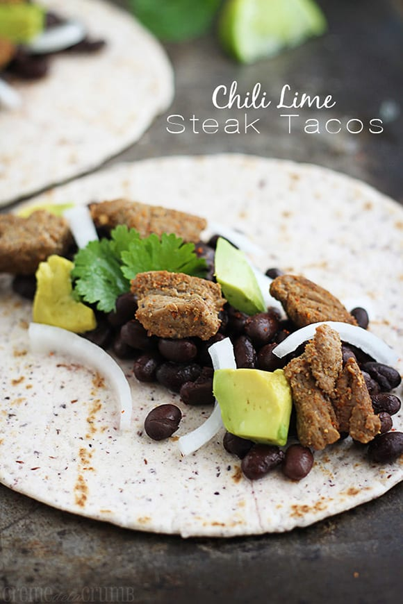 Chile Lime Steak Tacos