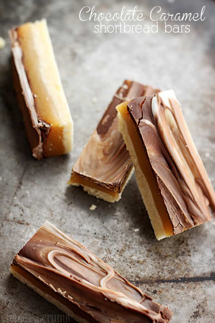 Chocolate Caramel Shortbread Bars | Creme De La Crumb