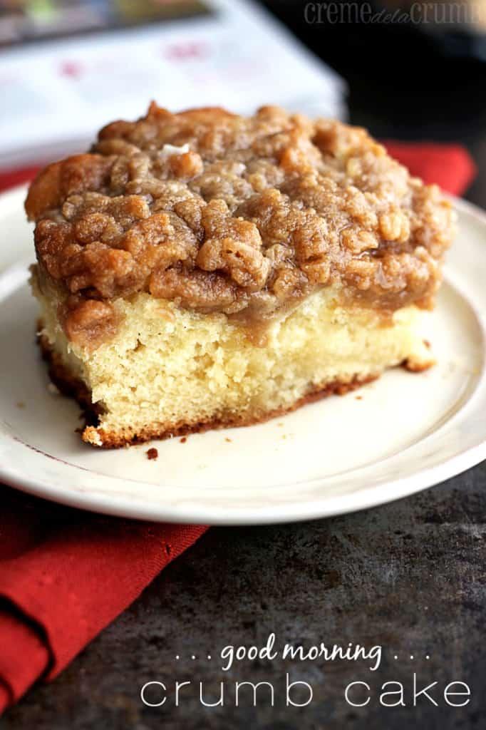 Good Morning Crumb Cake - Creme De La Crumb