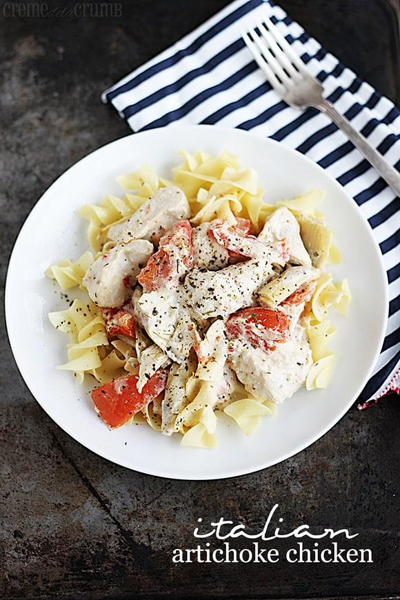 Easy Italian Artichoke Chicken