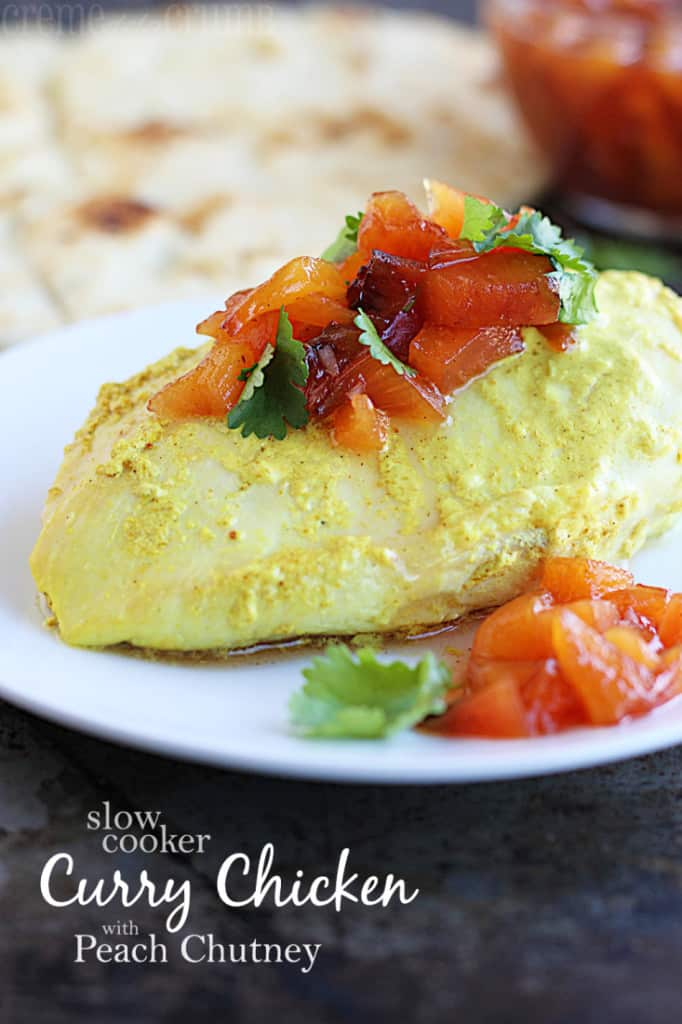 Slow Juicer Currys : Slow Cooker Curry Chicken with Peach Chutney Creme De La ...