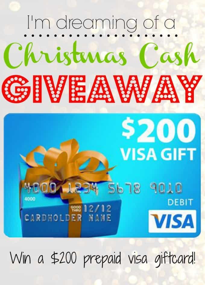 $200 Visa Gift Card Christmas Cash Giveaway!