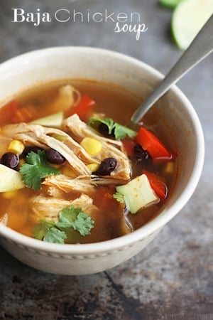 {Slow Cooker} Baja Chicken Soup