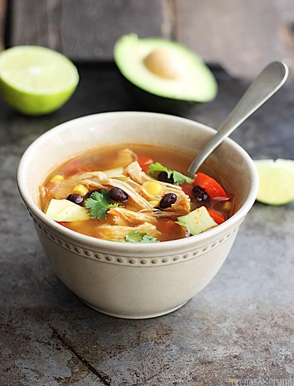 {Slow Cooker} Baja Chicken Soup