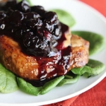 Blueberry Balsamic Pork Chops