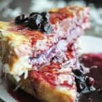 Blueberry Stuffed French Toast with Coconut Syrup