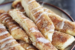 Cinnamon Roll Dippers (No Yeast)