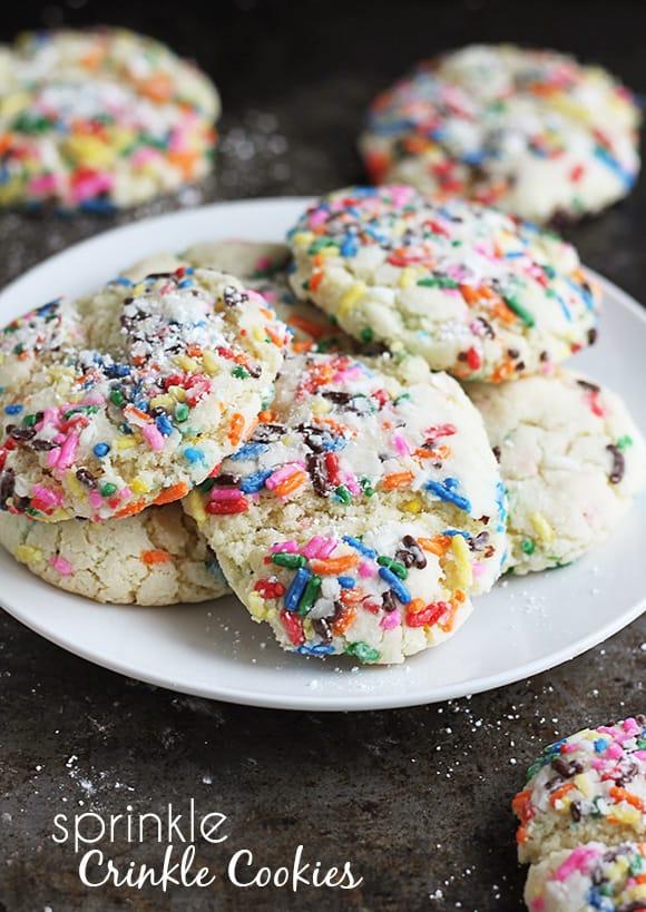 Sprinkle Crinkle Cookies