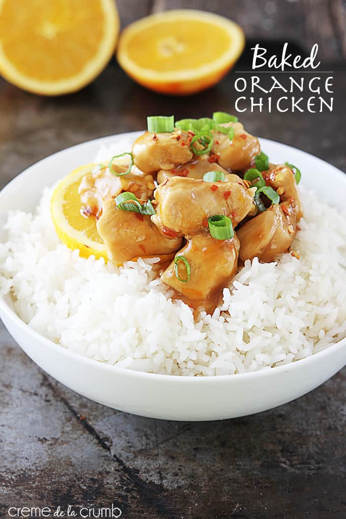 Baked Orange Chicken - Creme de la Crumb