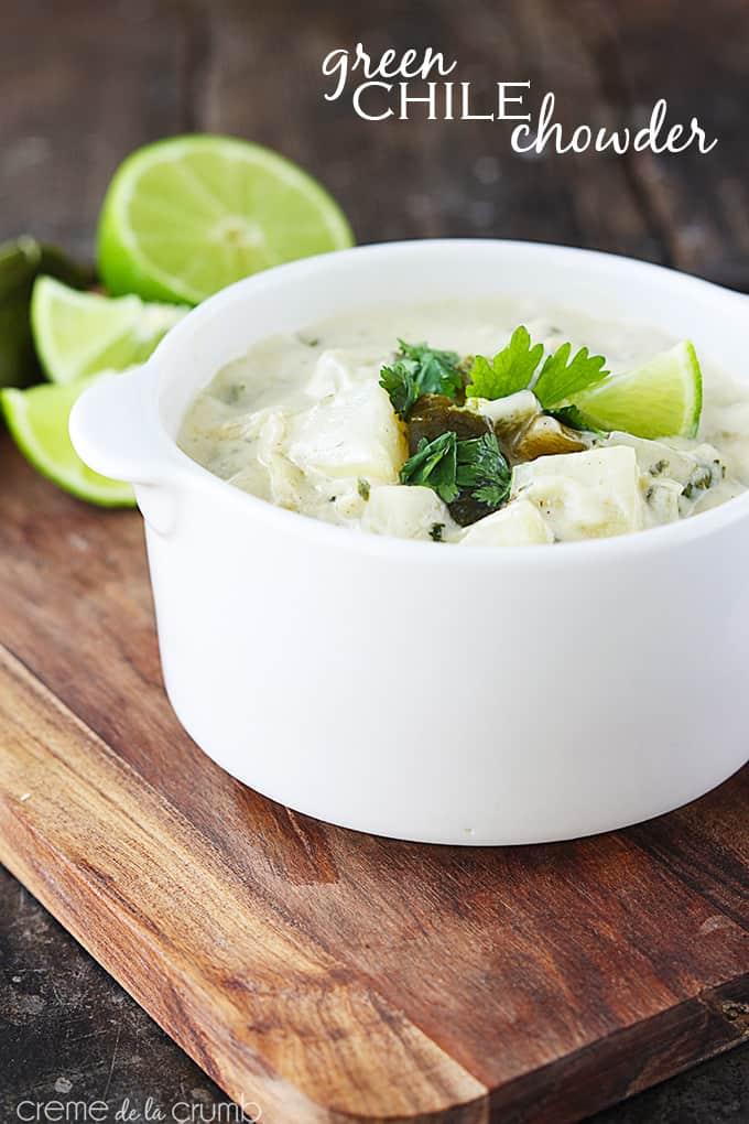 Green Chile Chowder - Creme de la Crumb