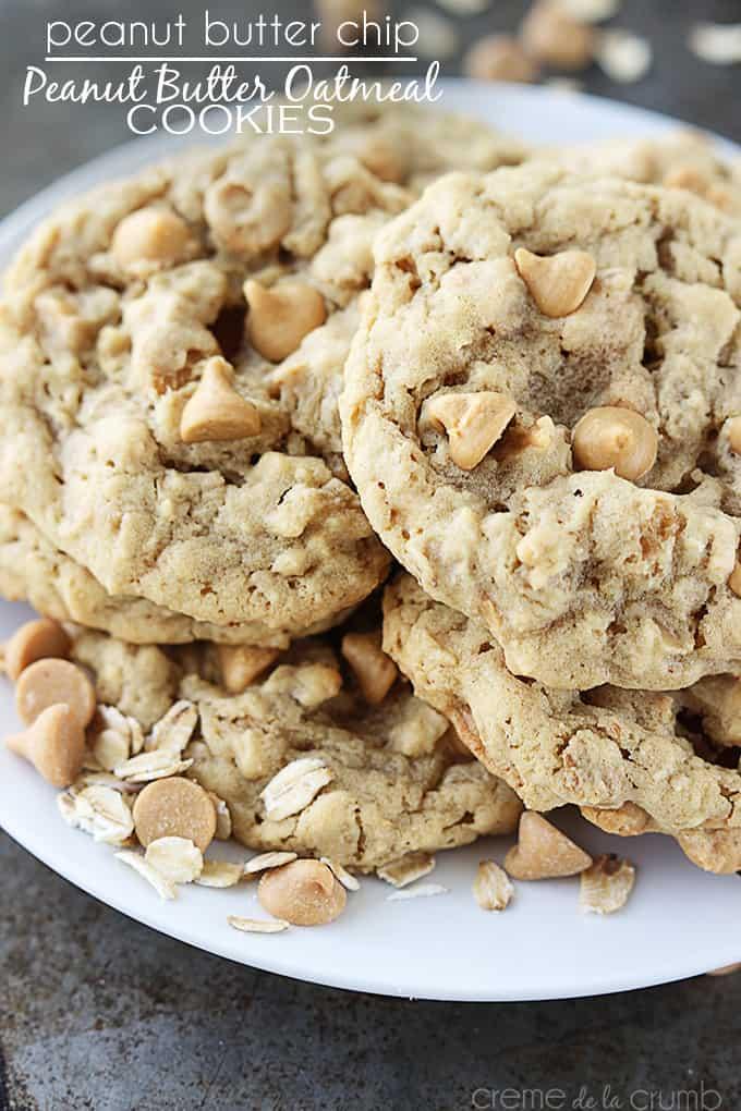 Homemade Peanut Butter Cookies - Peanut Butter Oatmeal Cookies | Homemade Recipes http://homemaderecipes.com/course/breakfast-brunch/20-homemade-peanut-butter-cookies-recipes