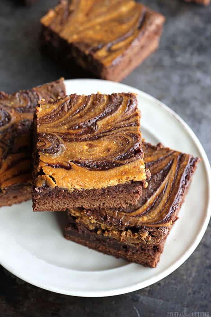Pumpkin Swirl Brownies - Creme De La Crumb