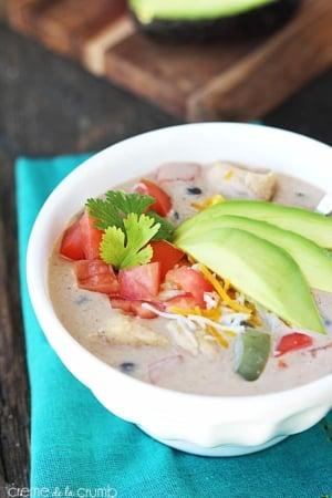 Chicken Fajita Soup - Creme de la Crumb