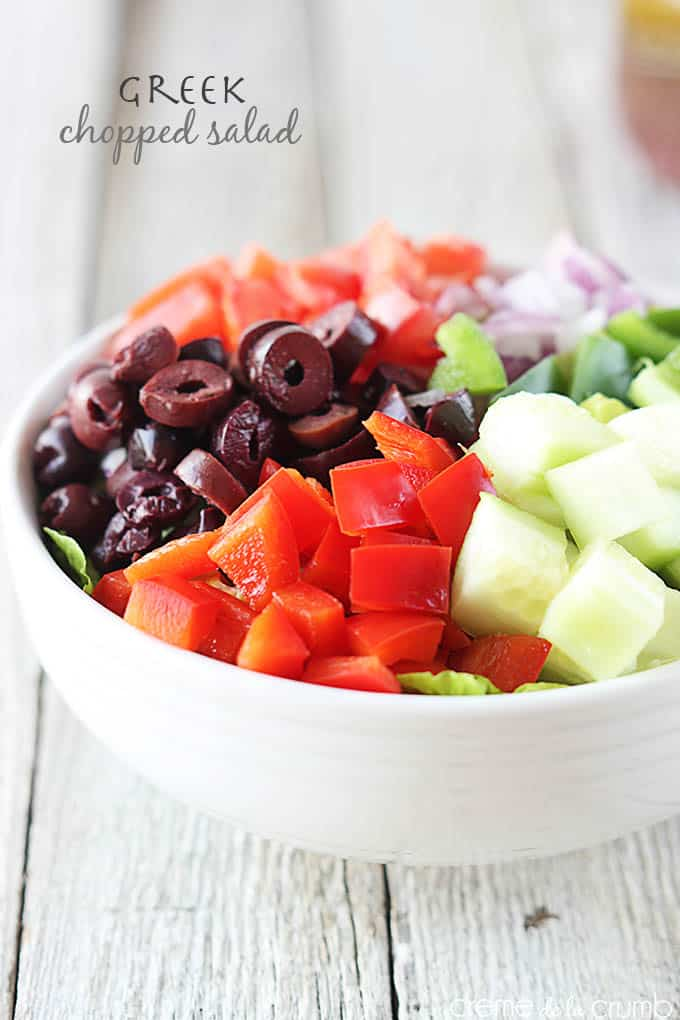 Greek Chopped Salad | Creme de la Crumb