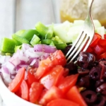 Greek Chopped Salad - Creme de la Crumb