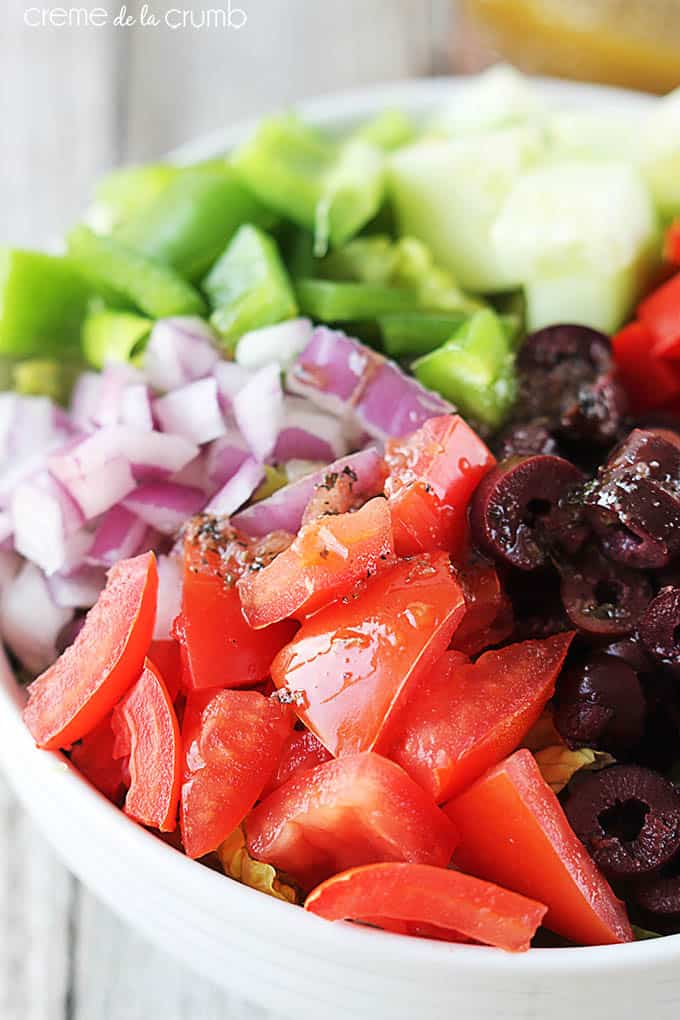 Greek Chopped Salad | Creme De La Crumb