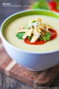Green Enchilada Soup - Creme de la Crumb