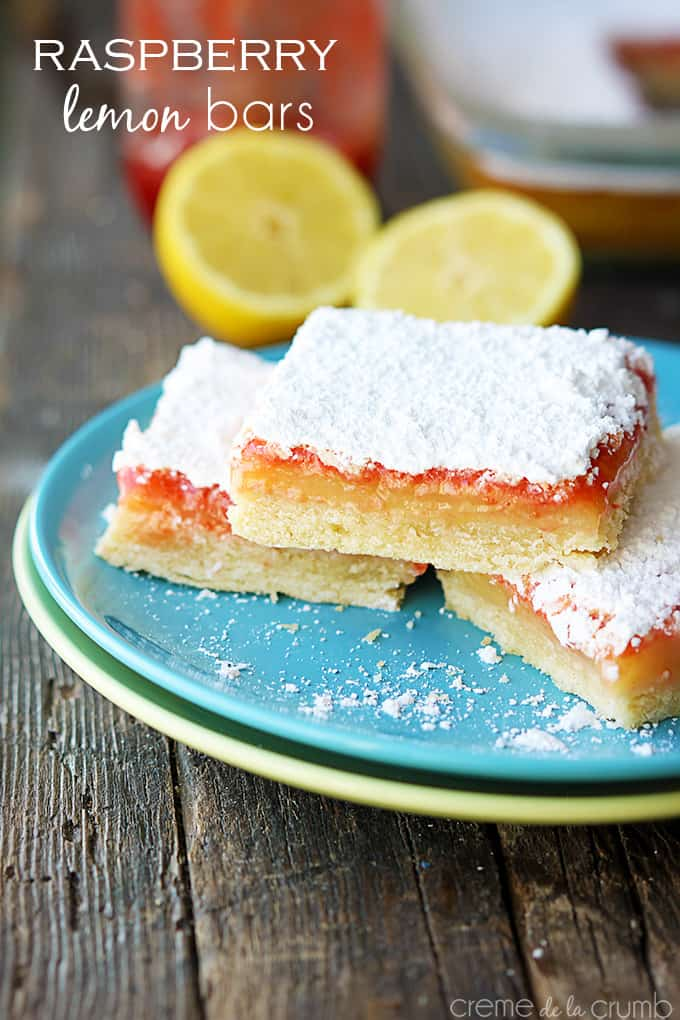 Raspberry Lemon Bars | Creme De La Crumb