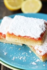Raspberry Lemon Bars - Creme de la Crumb