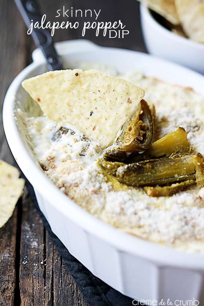 Skinny Jalapeño Popper Dip {only 6 ingredients!} - Creme de la Crumb