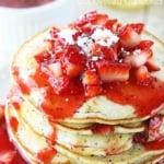 Strawberry Lemon Poppyseed Pancakes