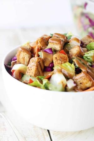 Thai Chicken Chopped Salad - Creme de la Crumb