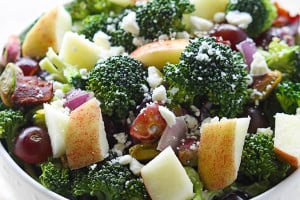 Apple Bacon & Pistachio Broccoli Salad