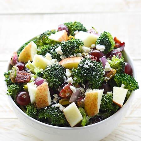 Apple Bacon & Pistachio Broccoli Salad