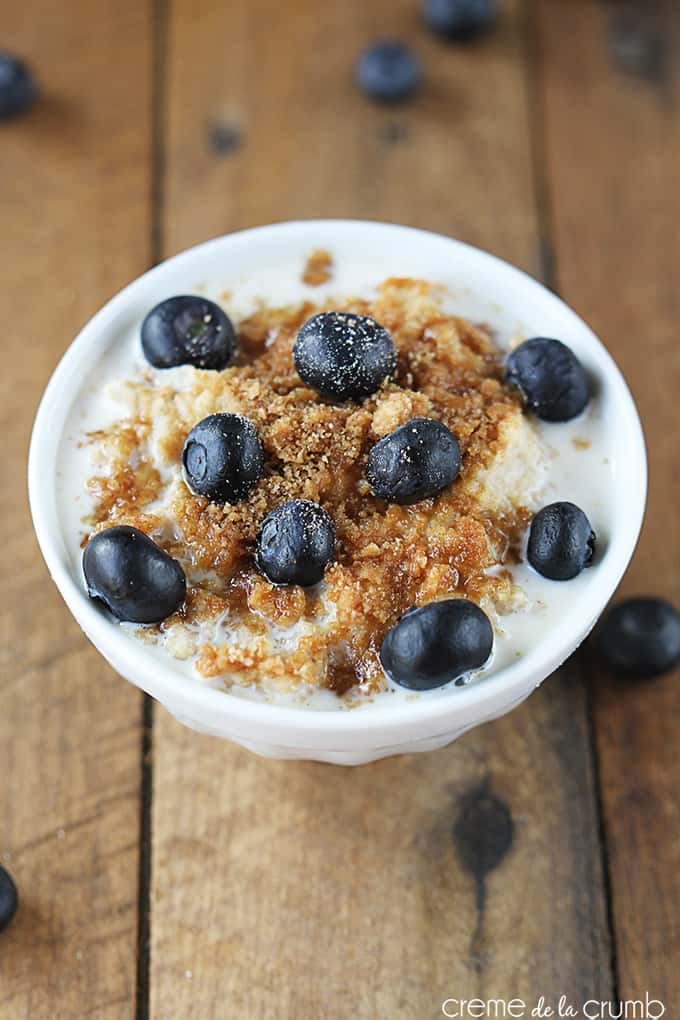 Blueberry Crumble Oatmeal