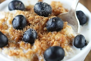 Blueberry Crumble Oatmeal