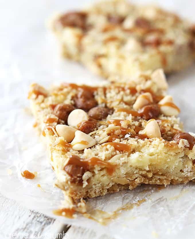 Caramel Crumble Cheesecake Bars