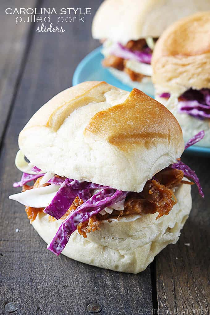 Carolina Style Pulled Pork Sliders