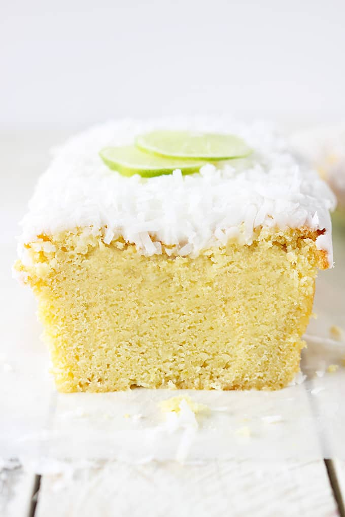 Coconut Pound Cake With Lime Glaze