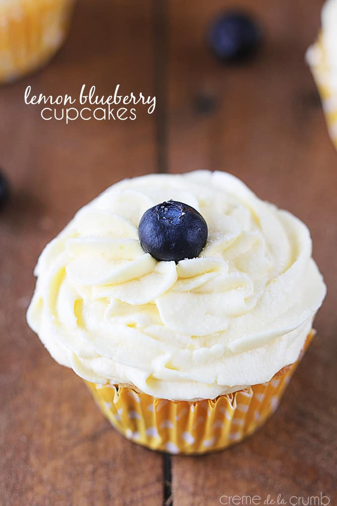 Lemon Cupcakes With Lemon-Blueberry Buttercream Recipe ...