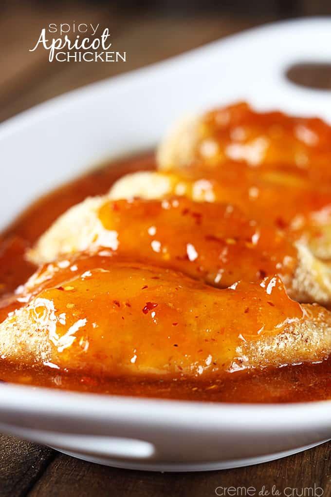 Spicy Apricot Chicken - Creme De La Crumb