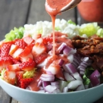 Strawberry Poppyseed and Bacon Chopped Salad