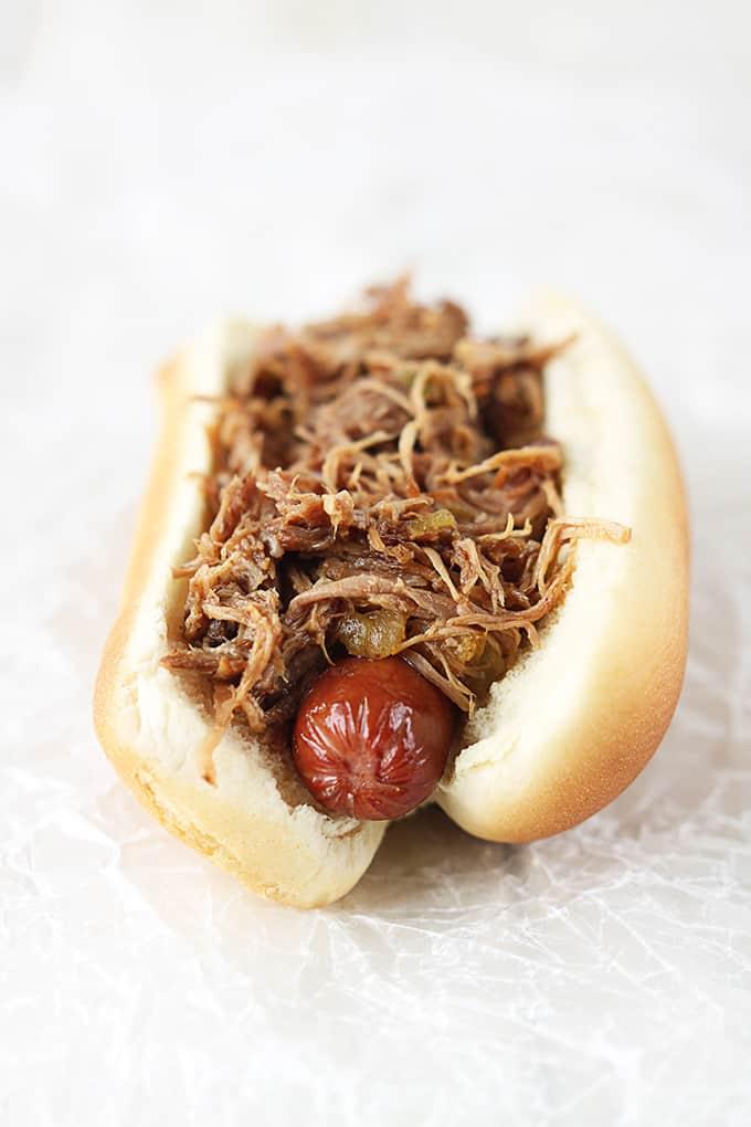 Sweet Pork & Tomatillo Ranch Hot Dogs